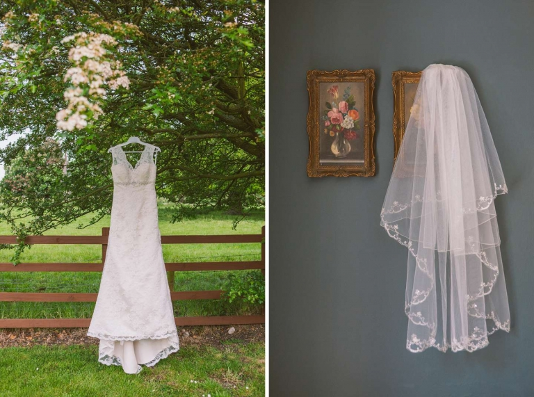 Wedding dress and veil for Harry Potter wedding