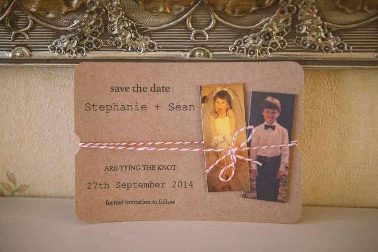 Wedding invitation for DIY barn wedding in Denham, Buckinghamshire