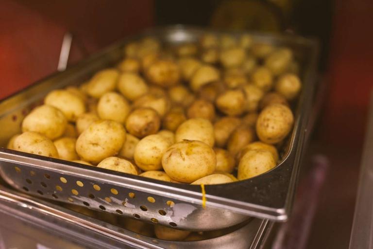 Potatoes in kitchen