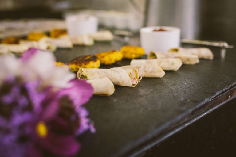 Canapes for food photography at Fanhams Hall