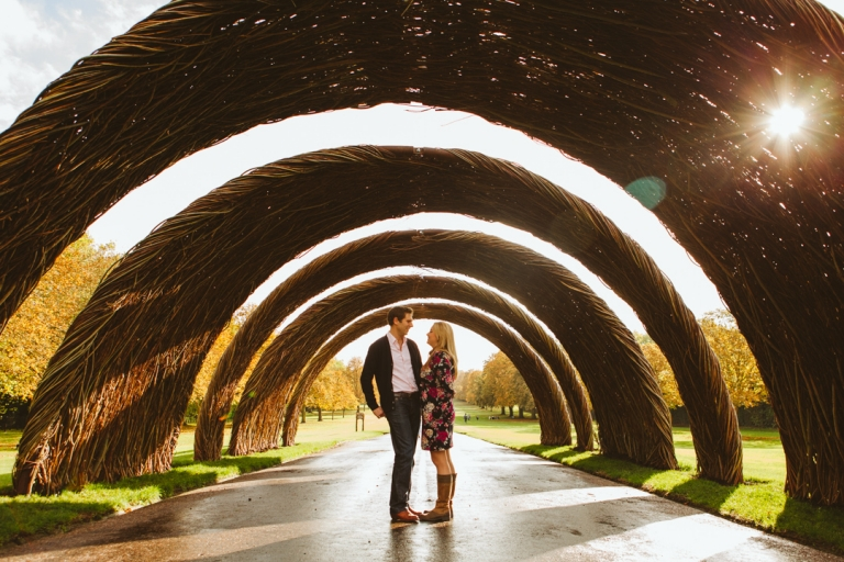 Engagement Shoot under archway in London