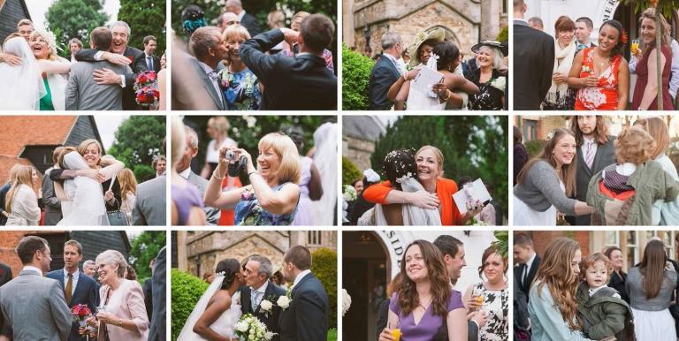 Candids after wedding ceremony