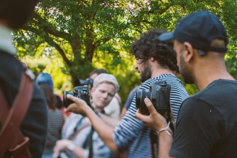 Sam Hurd showing back of camera