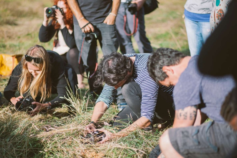 Sam Hurd shooting through hay at Photography Farm