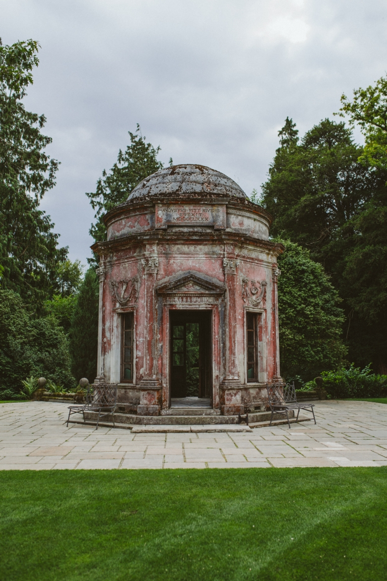 Roman Temple At Larmer Tree Wedding Venue In Salisbury Wiltshire