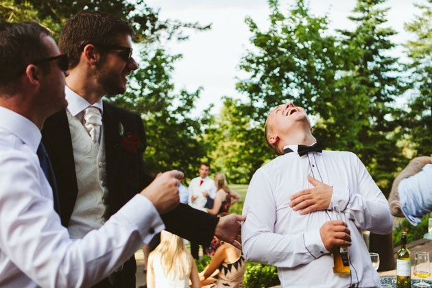 Essendon Country Club wedding photography of guest laughing