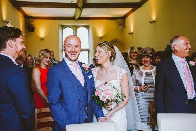 Notley Abbey wedding photography of ceremony
