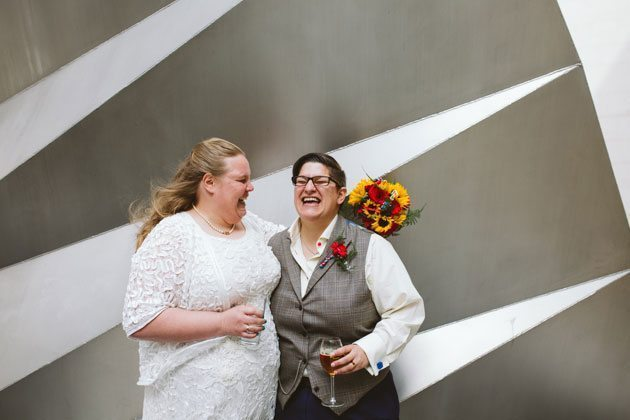 Stationers Hall Wedding Photography of brides laughing