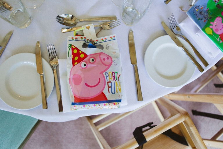 Kids activity pack at Riverside Marquee wedding