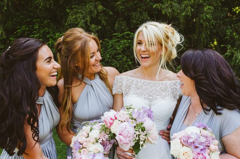 Hunton Park Wedding Photographer Hertfordshire - bride and bridesmaids