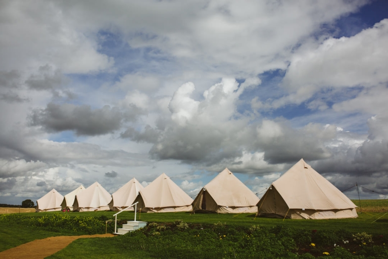 Tents lined up at Tip Top Venues wedding