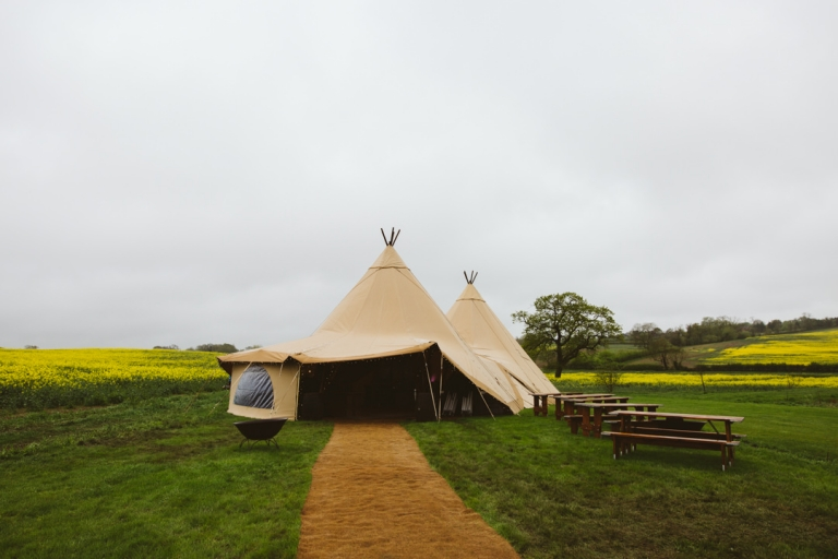 Country Tipis set up at Tip Top Venues